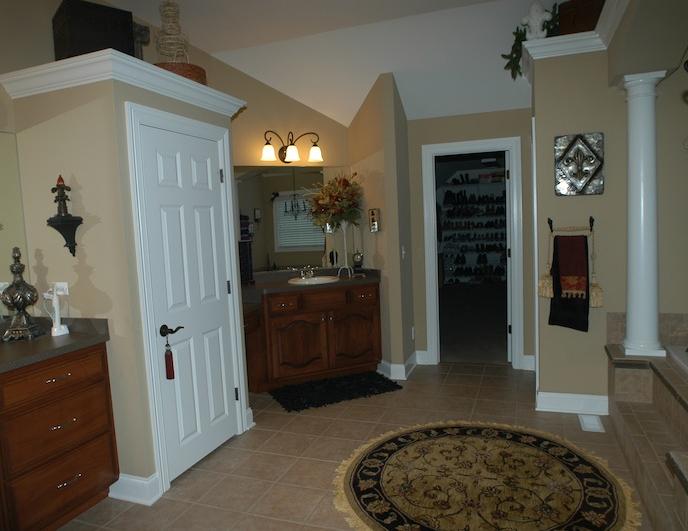 Master bathroom in the Kelsie custom floor plan at Stewart Ridge, Plainfield, IL