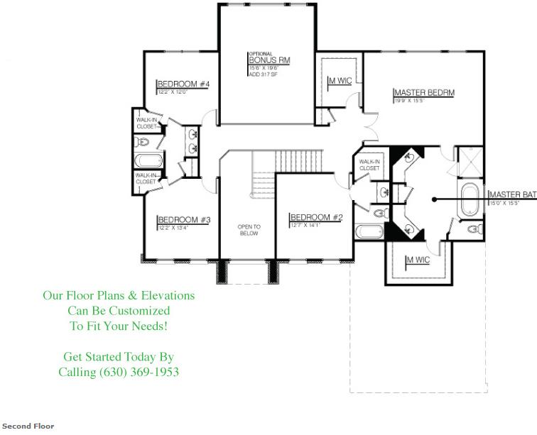 The Kelsie custom floor plan, Floor 2