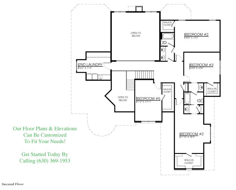 The Kristina floor plan, Floor 2