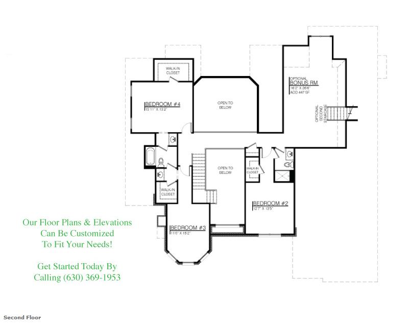 The Melissa custom floor plan, Floor 2