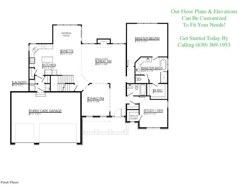 The Payton floor plan, Floor 1