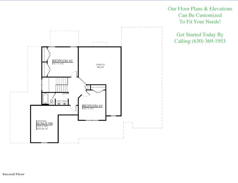 The Payton floor plan, floor 2