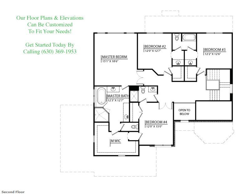 Tessa custom floorplan, floor 2