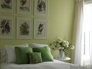 Room Decorated with Spring Green