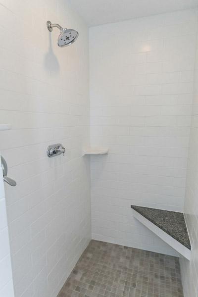 master bath custom tile shower